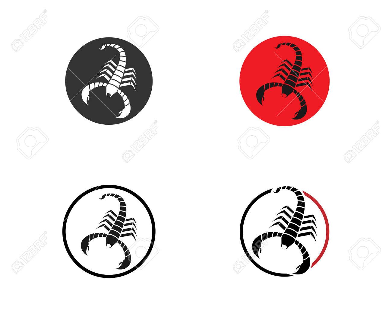 Scorpion icon Template Vector illustration - 152037696