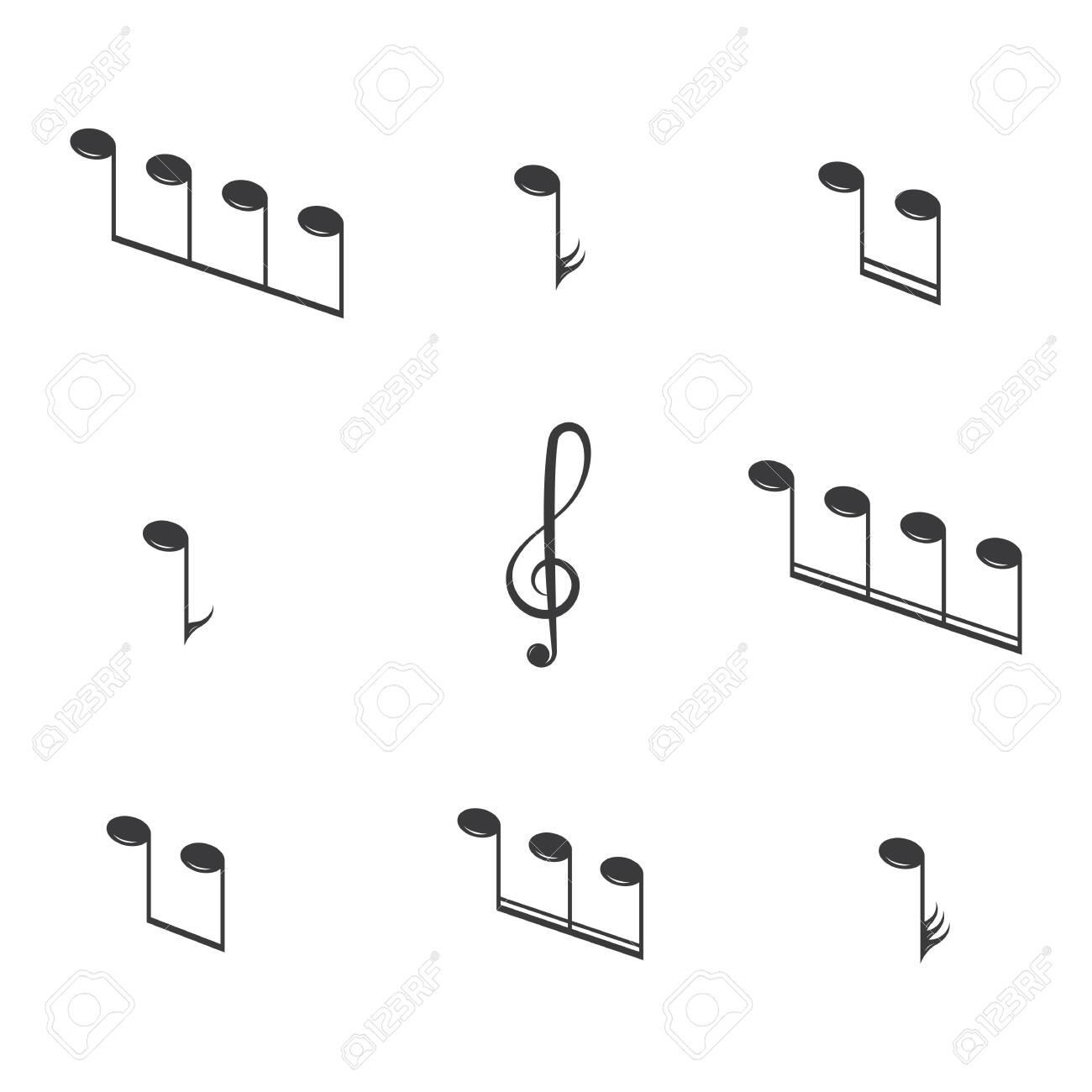 Musical design element,music notes,symbols,vector illustration. - Vector - 152524792