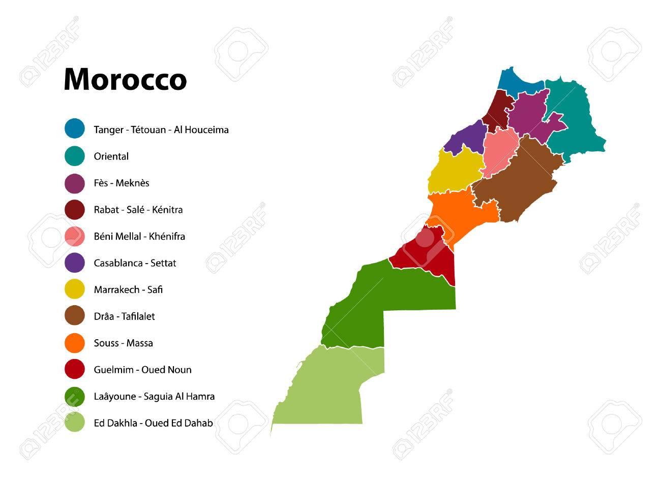 Morocco vector map, new regions Result - 52833812