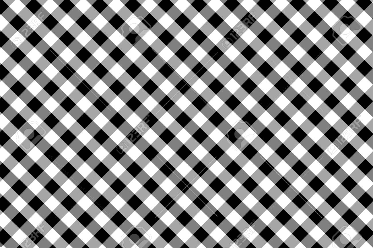 Black Gingham pattern  Texture from rhombus/squares for - plaid,