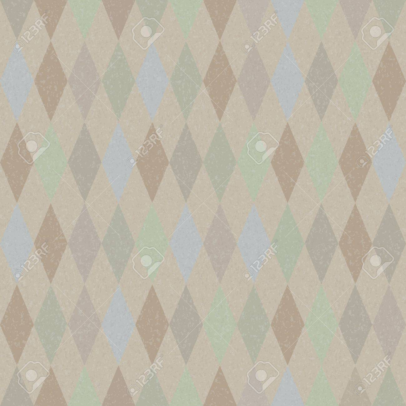 Seamless vector retro harlequin background in pastel colors Stock Vector - 12805272