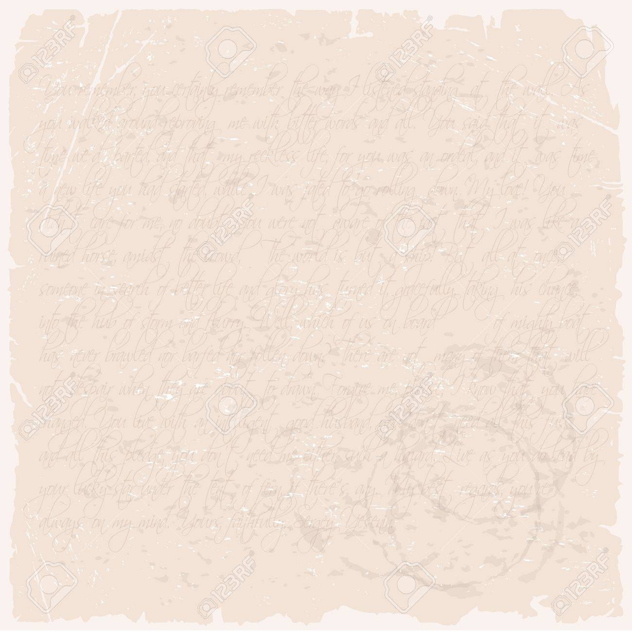 vector grunge texture of a letter on beige old paper royalty free