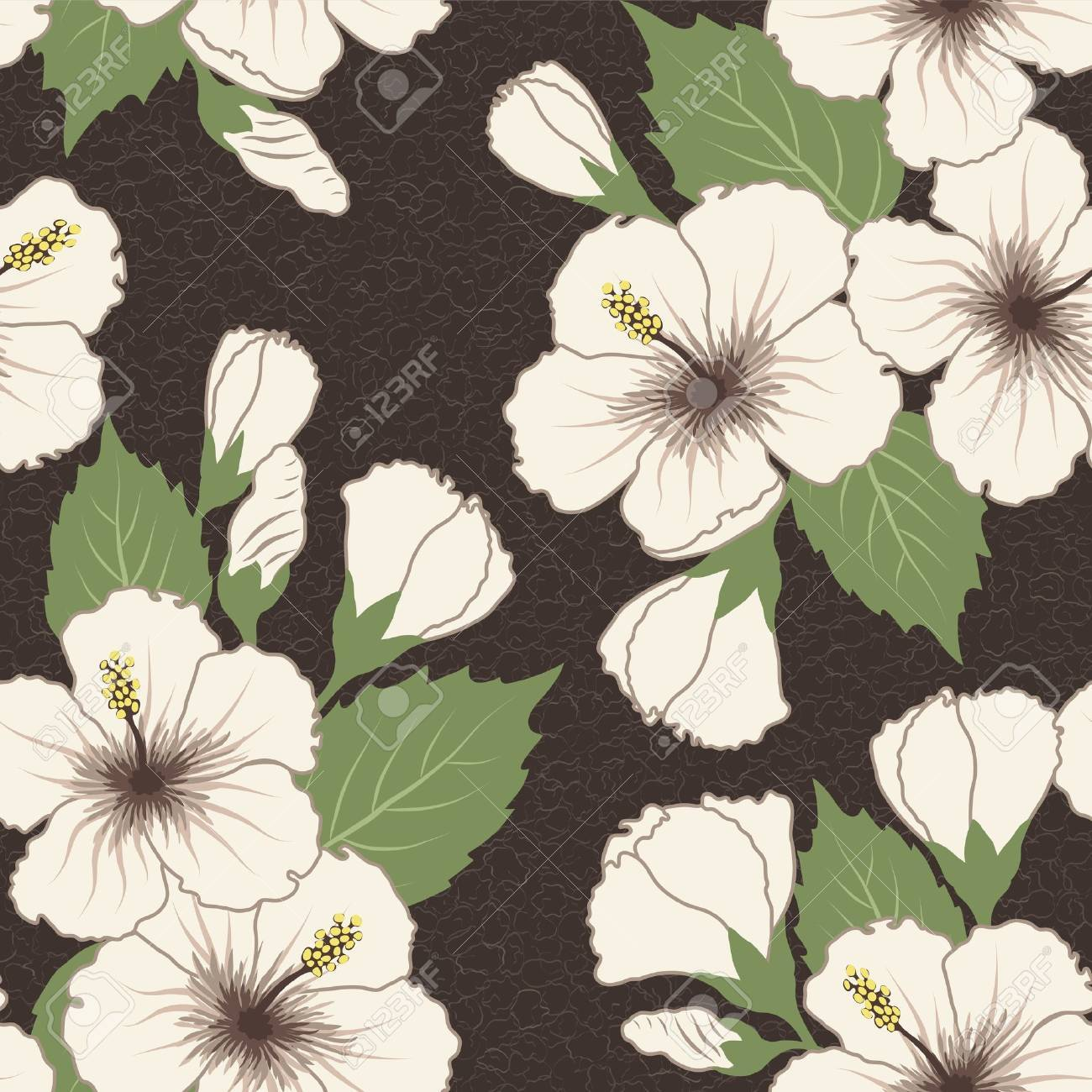 Vector seamless tropical pattern with hibiscus flowers Stock Vector - 14514892