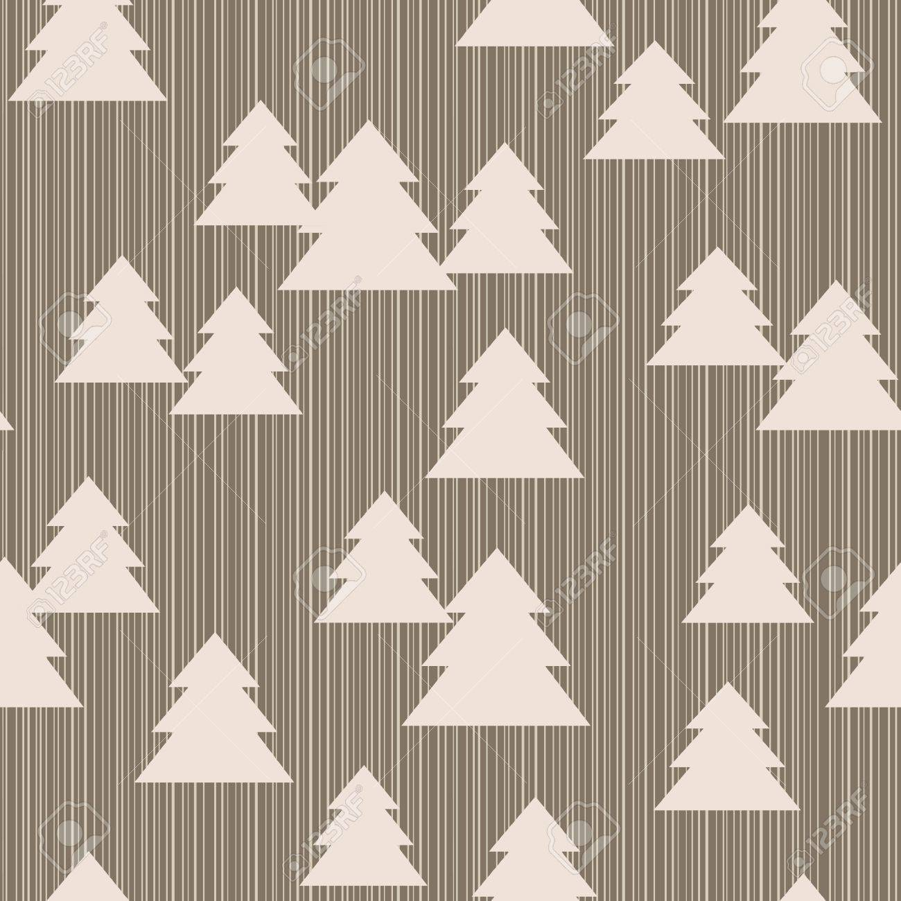 Seamless pattern with christmas trees on striped background Stock Vector - 16243874