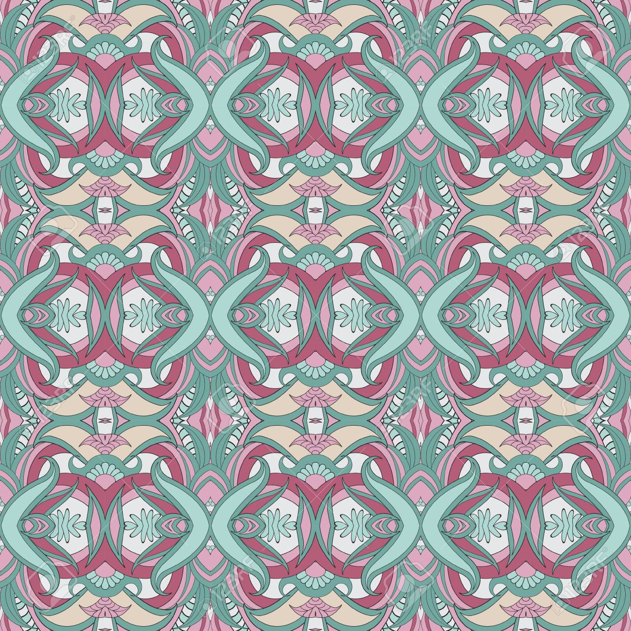 nahtlose vektor hand ethnische muster gezeichnet knnen muster fr tapeten muster fllt oberflchenstrukturen - Tapeten Mit Muster