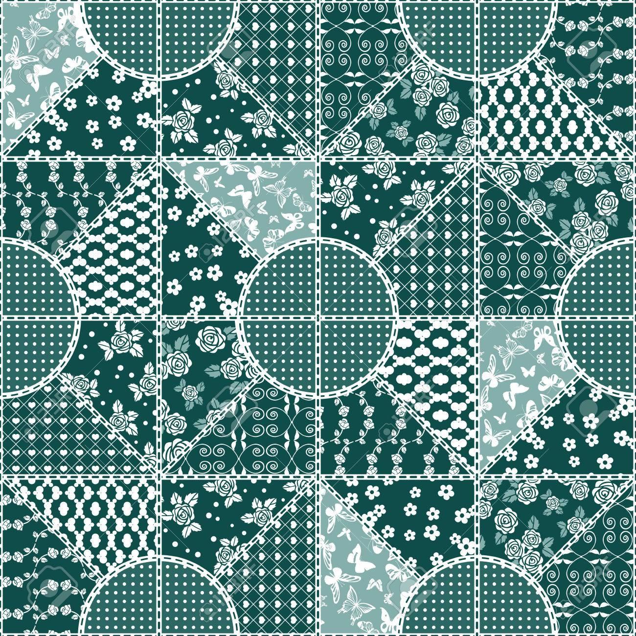 Patrón De Mosaico Del Vector Abstracto Transparente Con Adornos ...