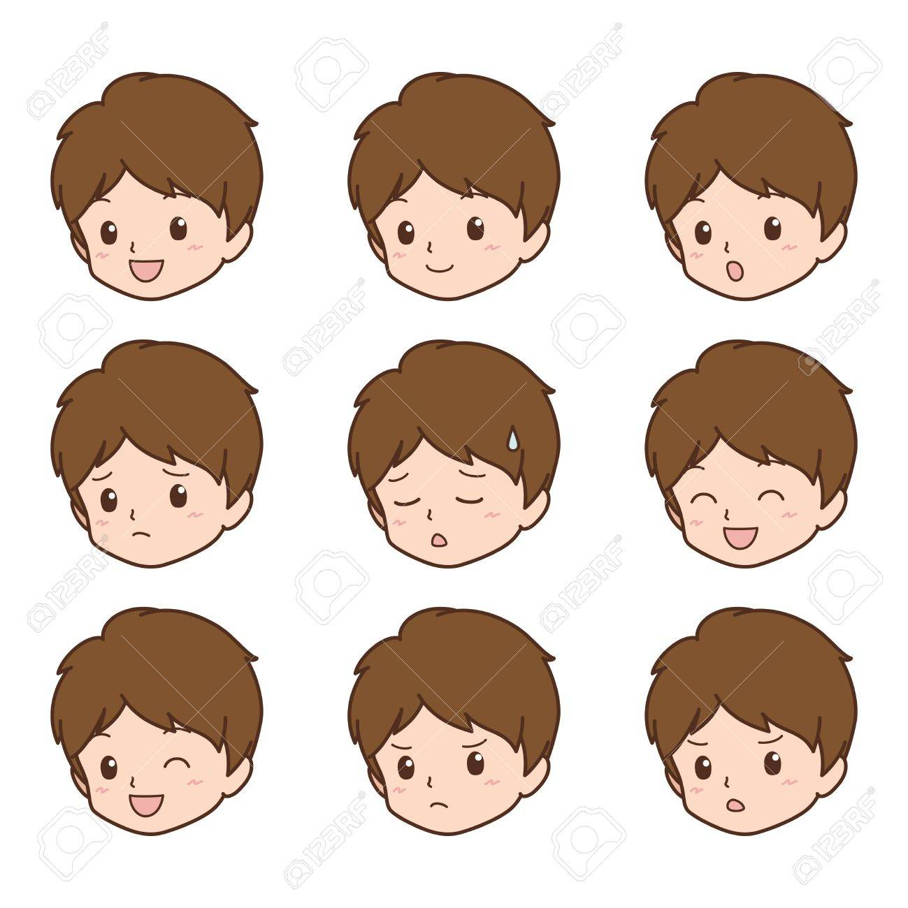 boy_face Stock Vector - 21675207