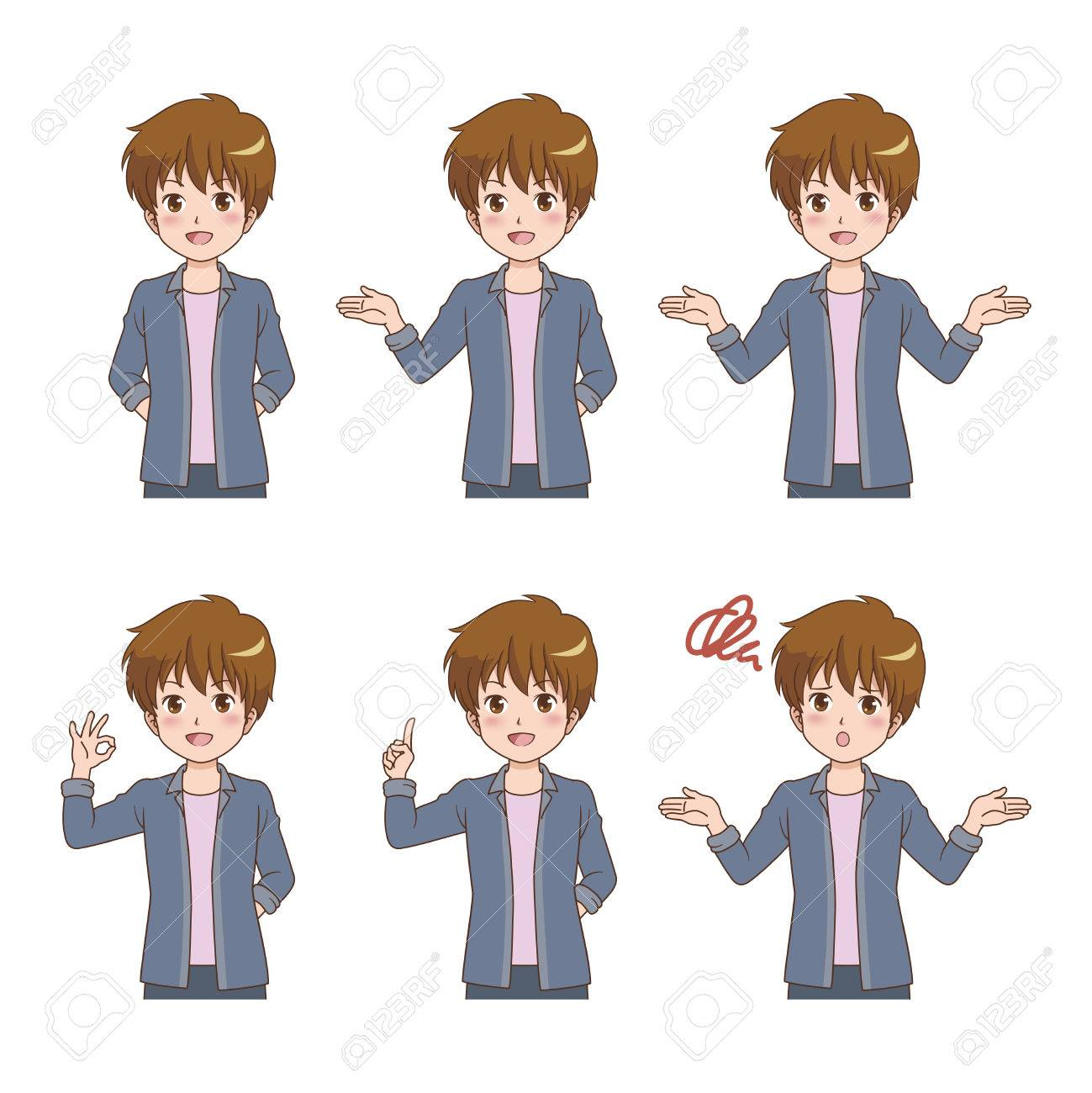 man_pose Stock Vector - 22748883