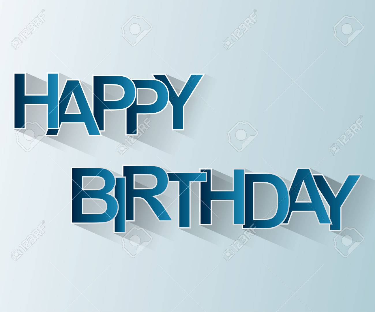 Happy Birthday Card Easy To Edit Adjust Color And Size Stock Vector