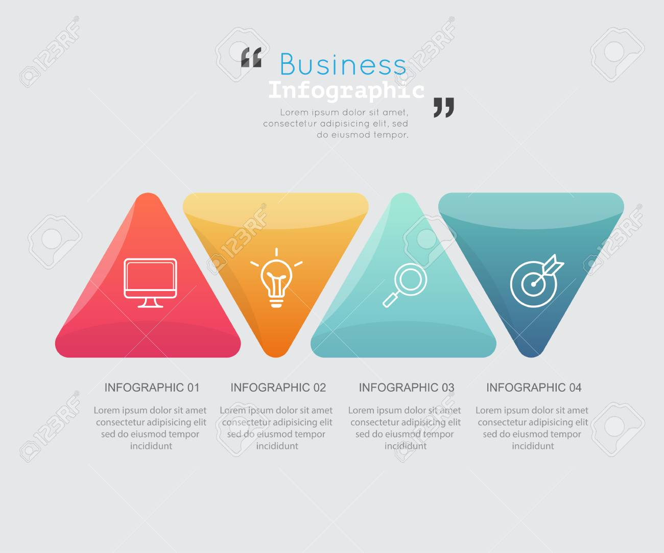 Modern business infographic Vector illustration. Stock Photo - 73489515
