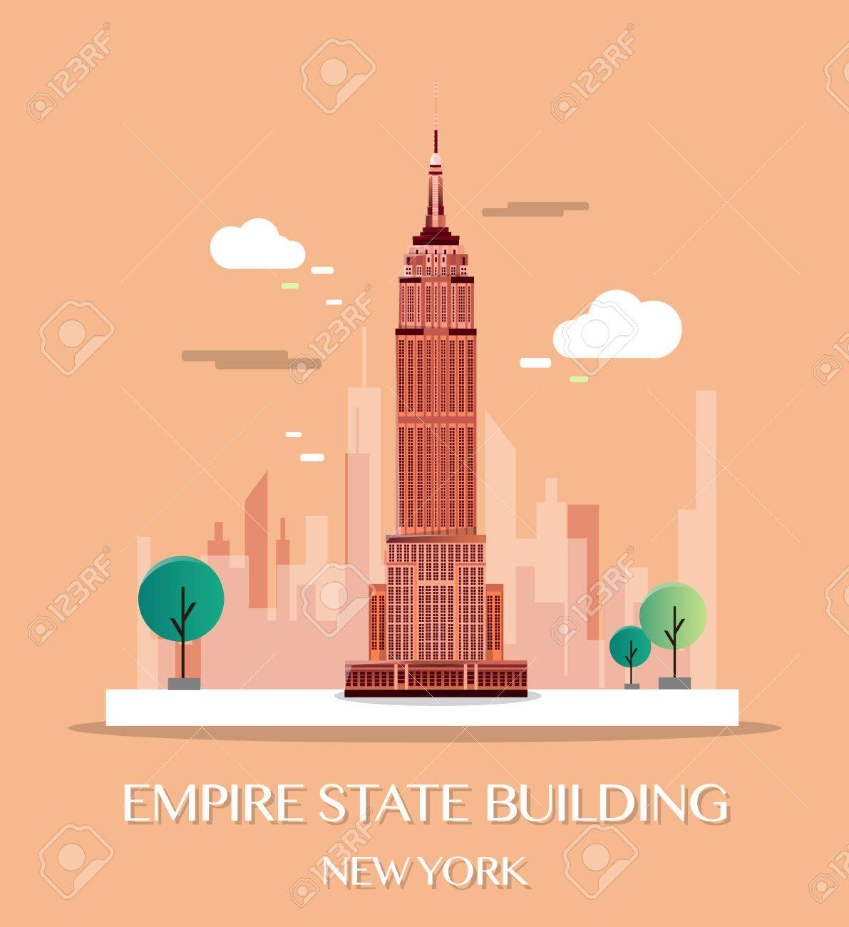 empire state building vector illustration royalty free cliparts