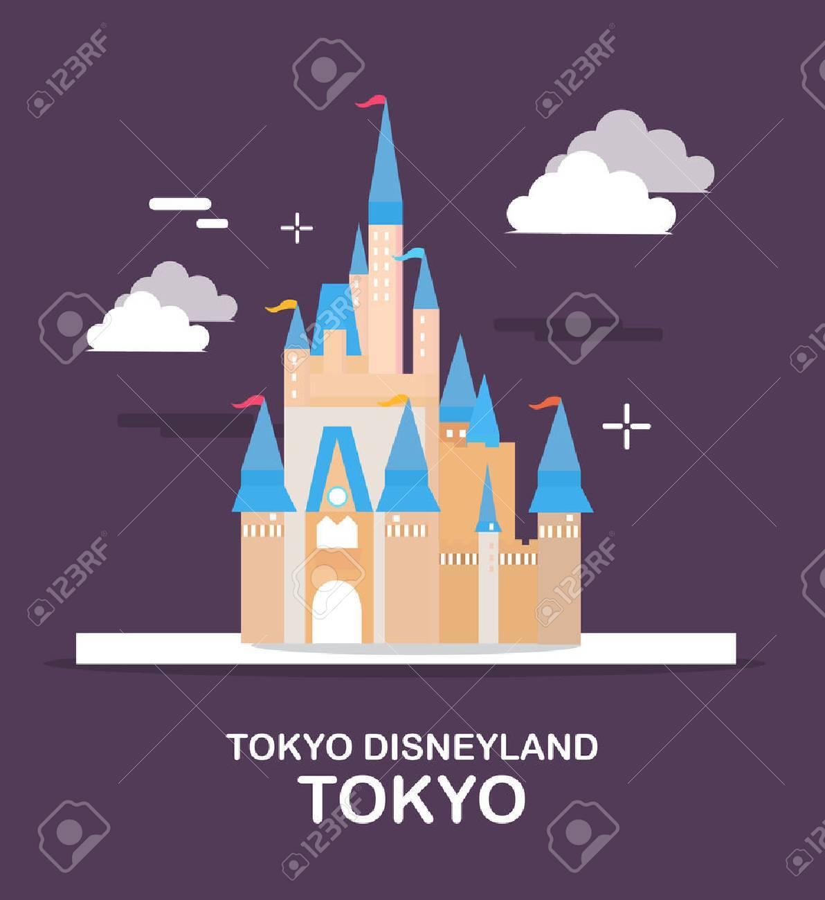東京ディズニーランドは日本イラスト デザインの一大アミューズメント