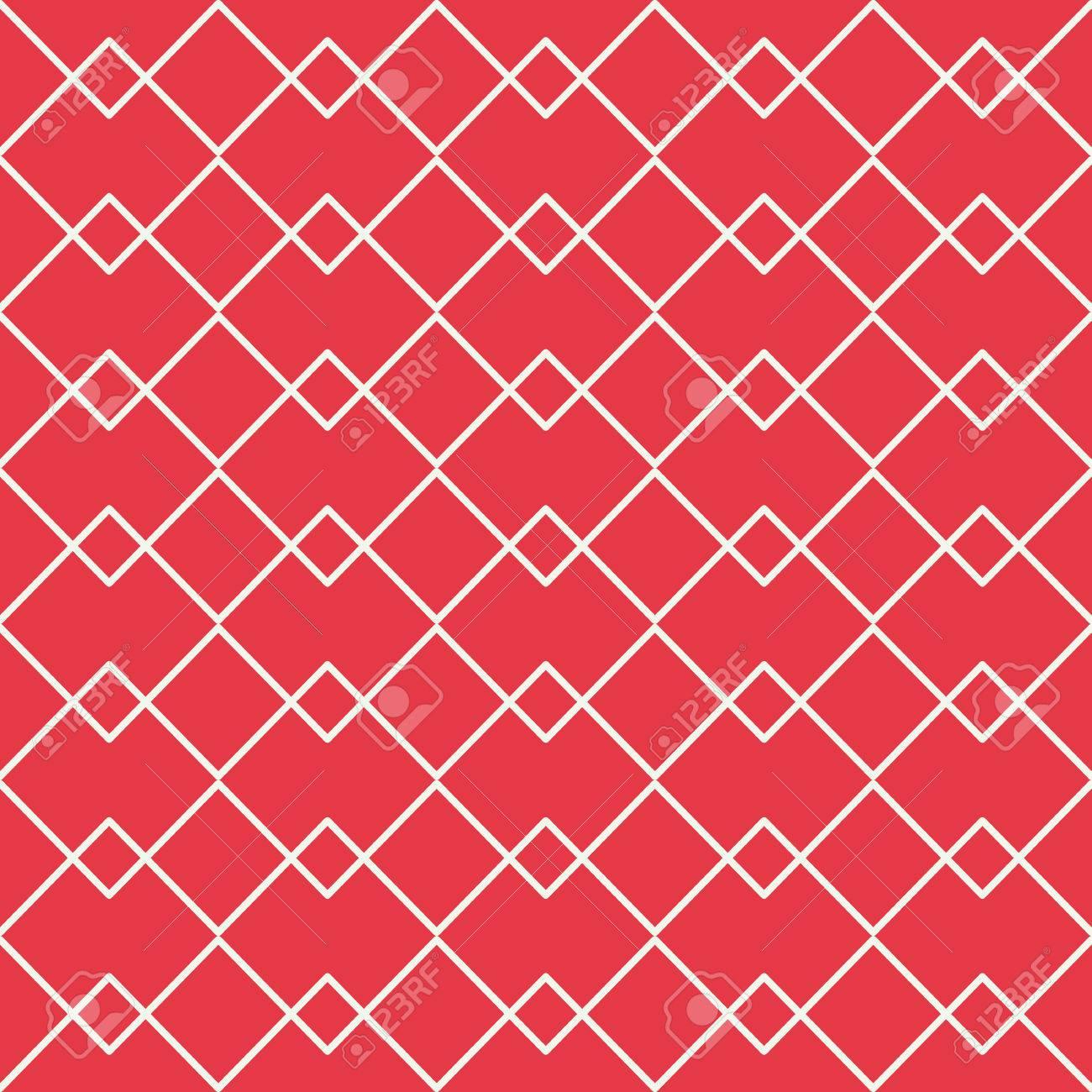Red Zickzack-Linie Mit Überlappung Linie Nahtlose Vektor-Muster ...