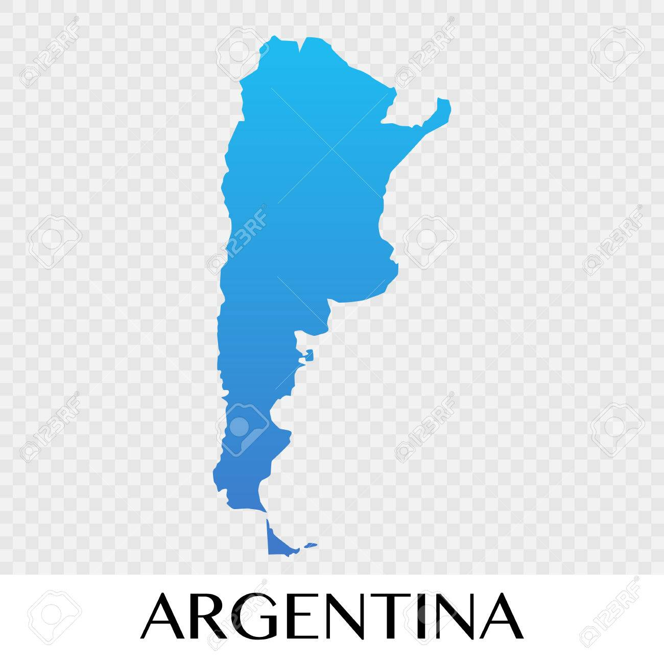 Argentina Map In South America Continent Illustration Design - Argentina map continent