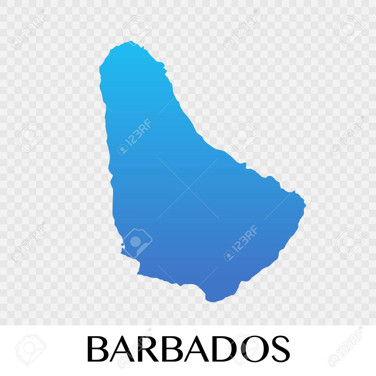 barbados map in north america continent illustration design royalty