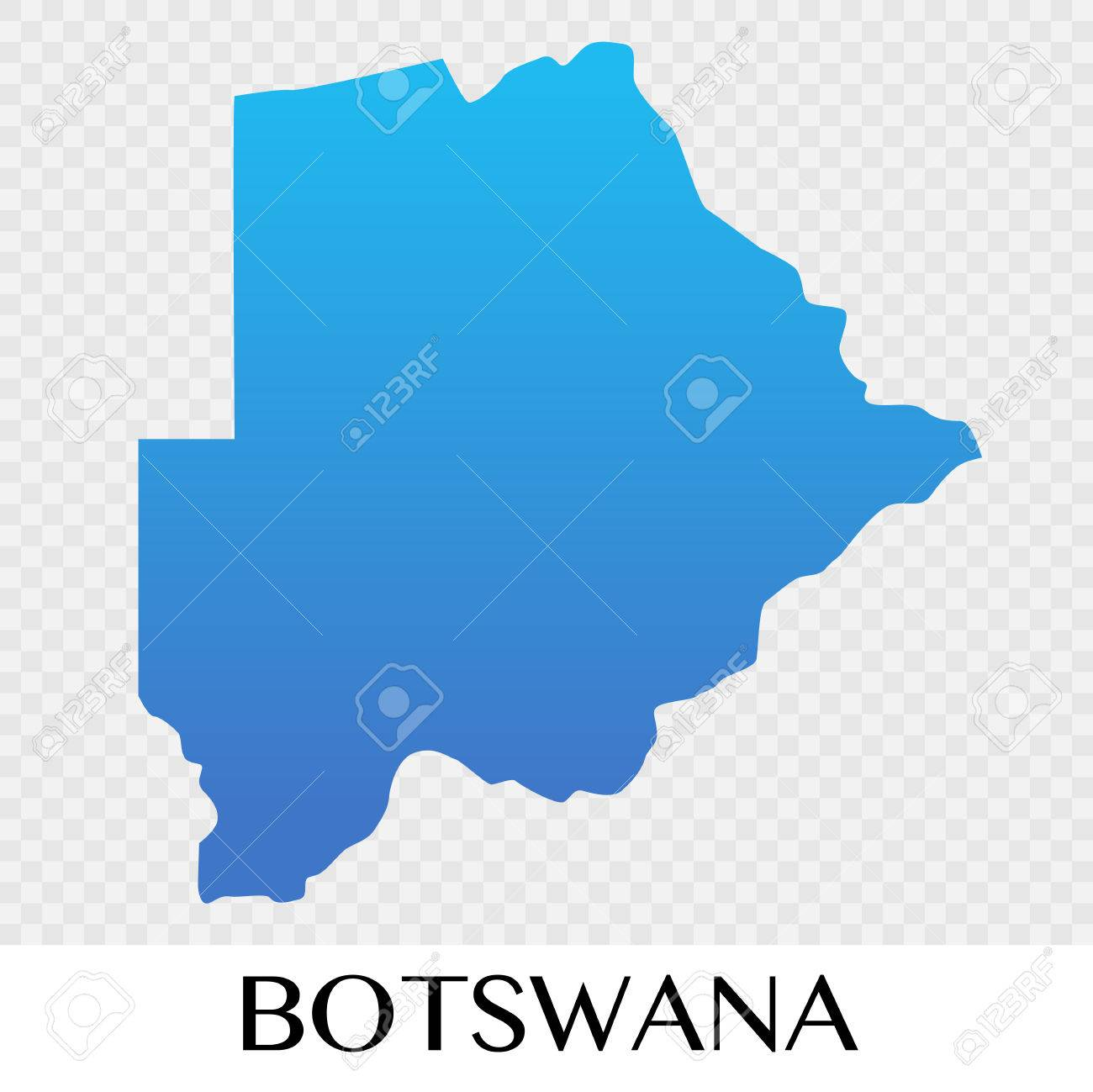 Botswana Map In Africa Continent Illustration Design Stock Vector