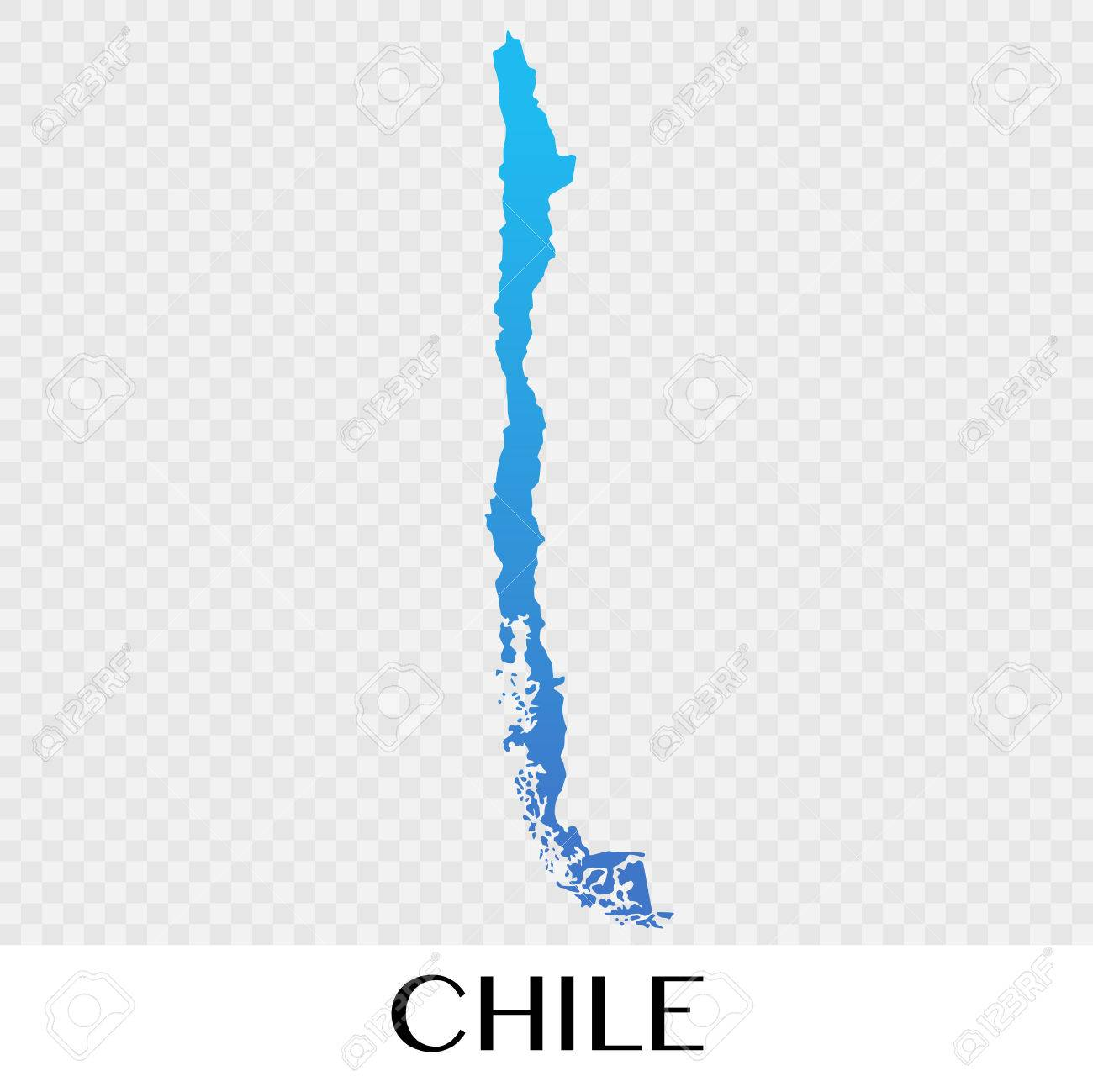 Chile Map In South America Continent Illustration Design Royalty