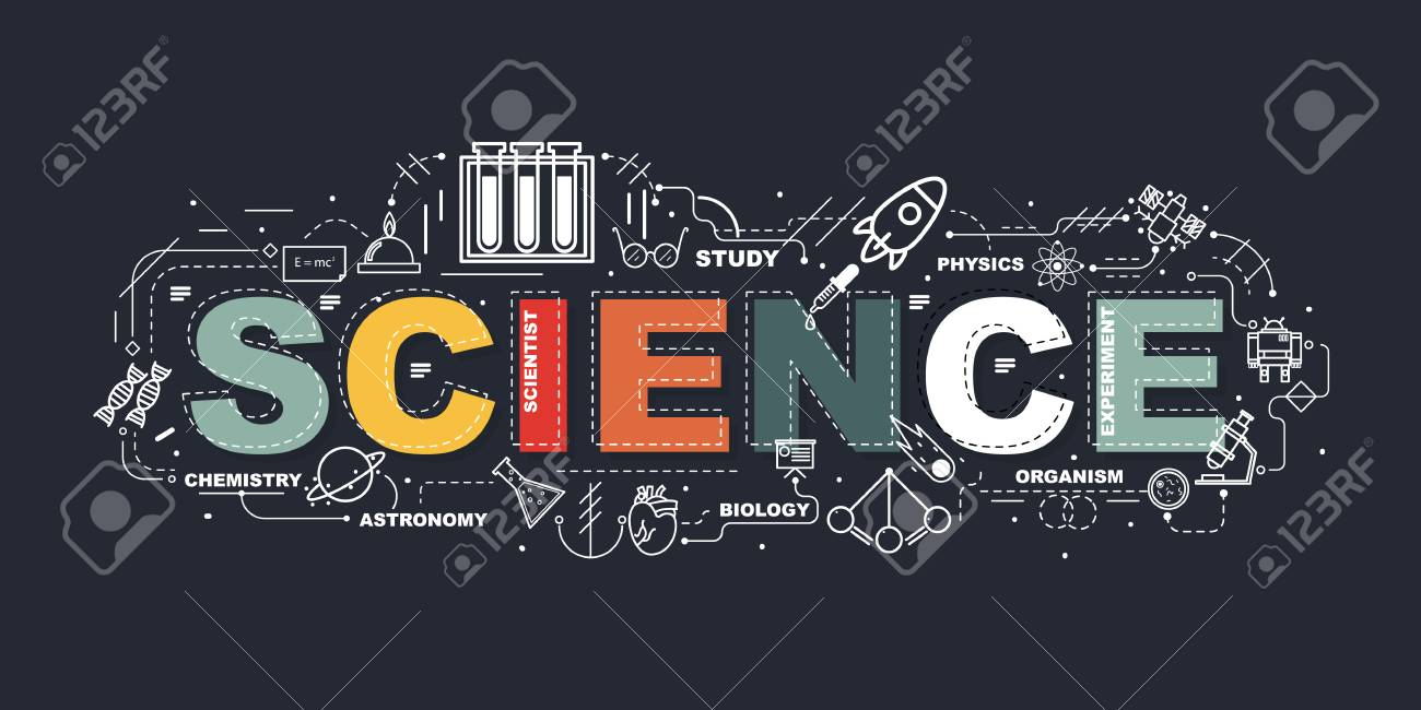 Design Concept Of Word SCIENCE Website Banner. - 97632186