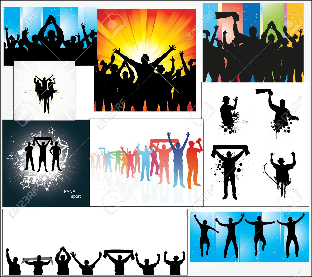 Set of posters for sports championships Stock Vector - 12945288
