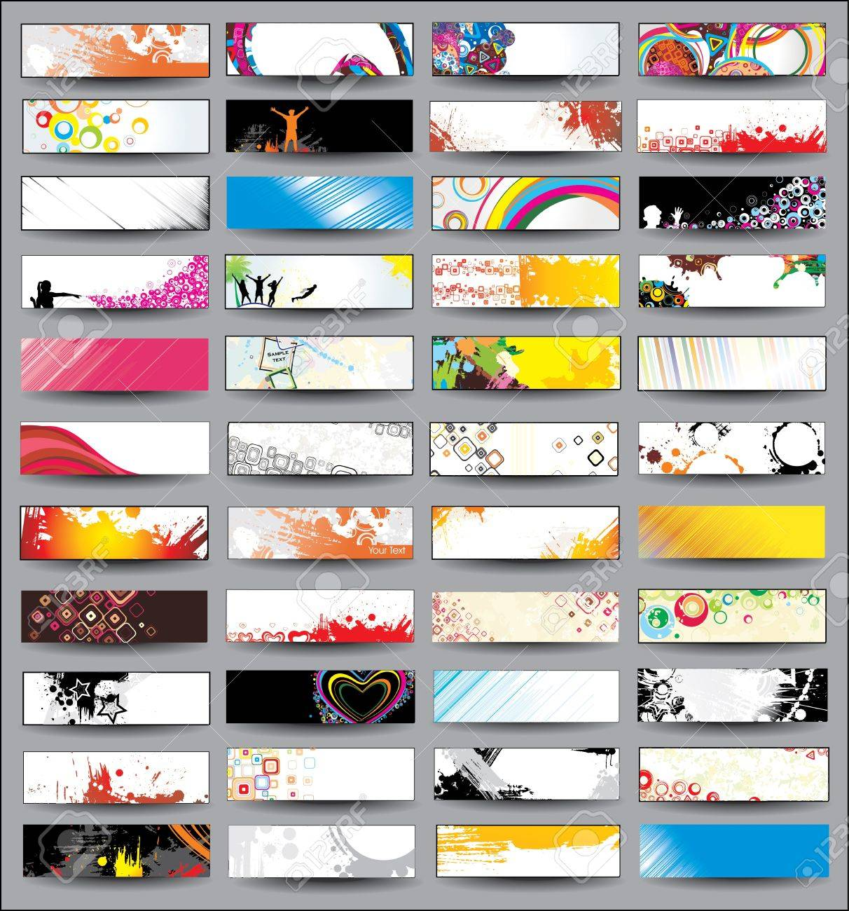 Collection Horizontal Headers on different topics - 13114655