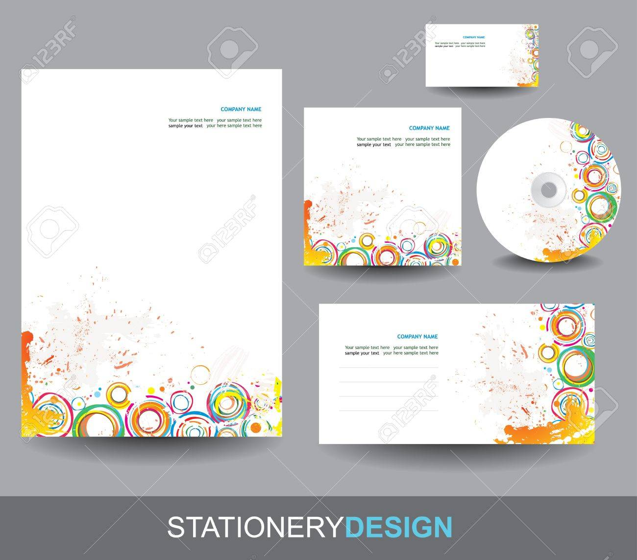 Stationery design set - 15556459