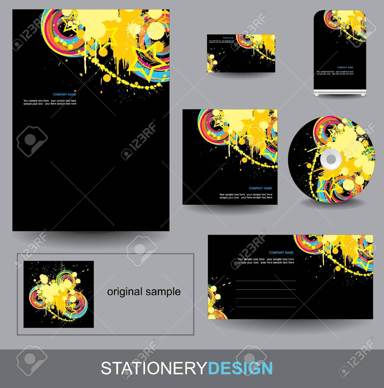 Stationery design set Stock Vector - 15556468