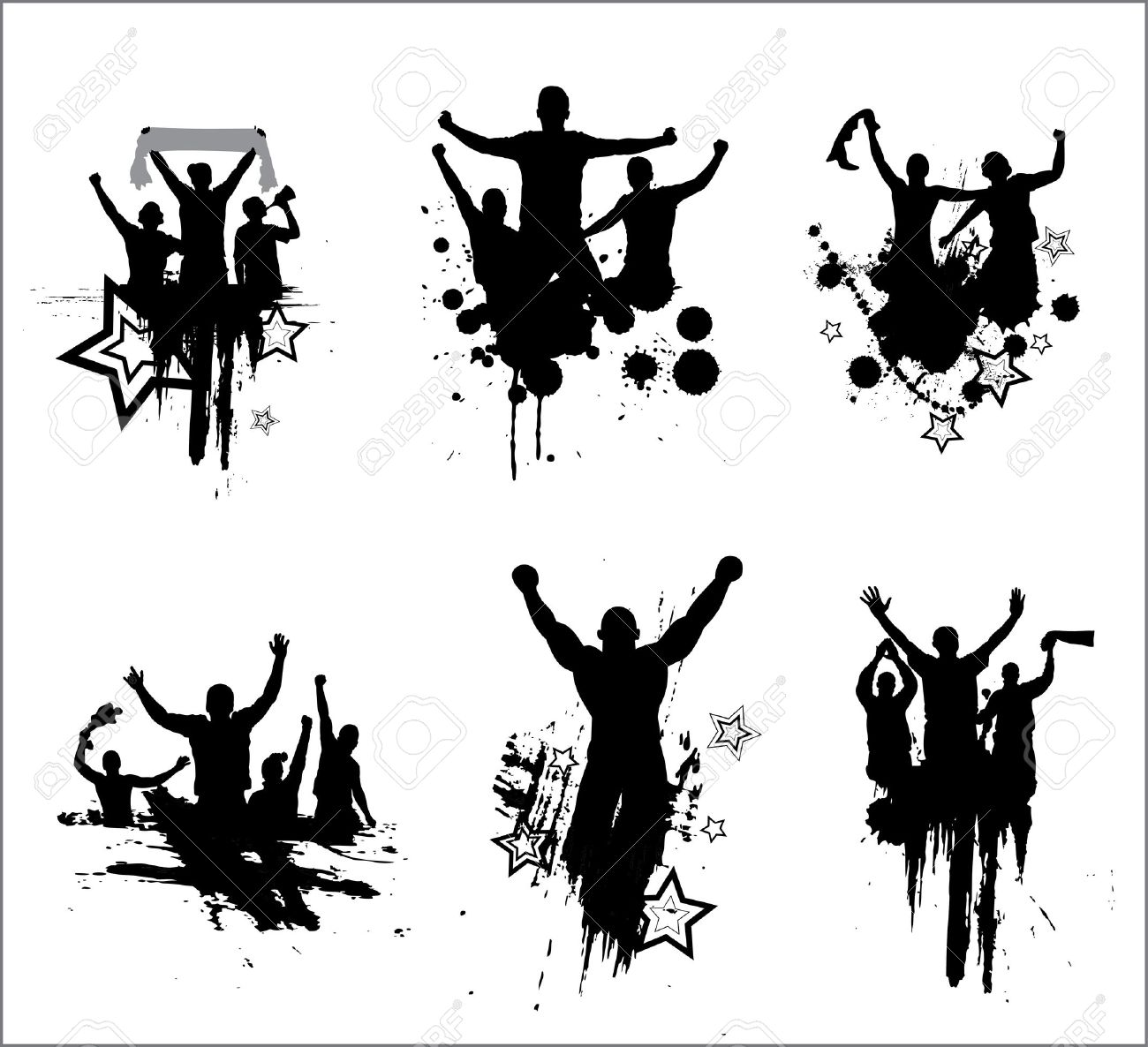 Set of silhouettes for sports championships and concerts Stock Vector - 15556427