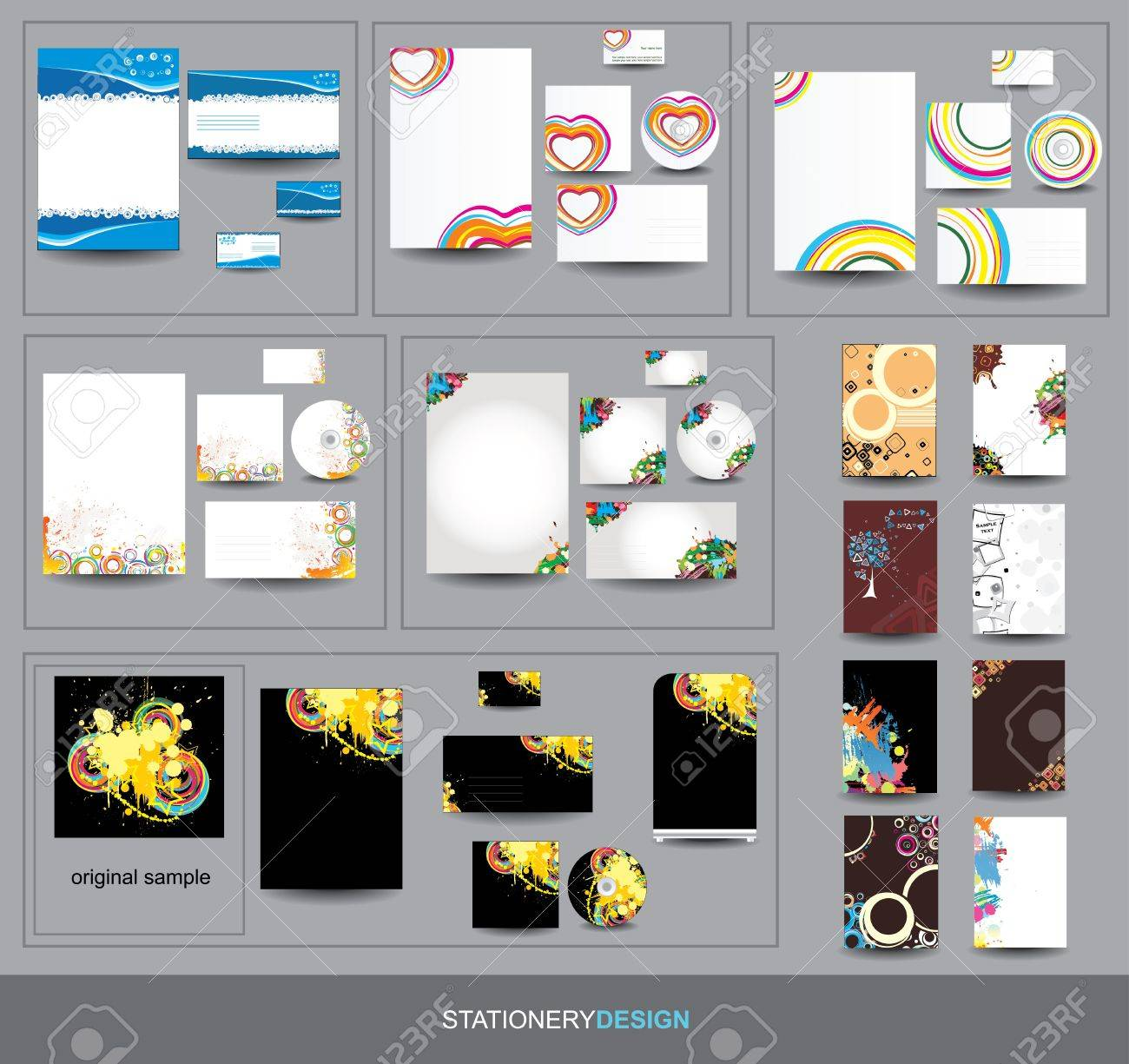 Collection Stationery design Stock Vector - 16702251
