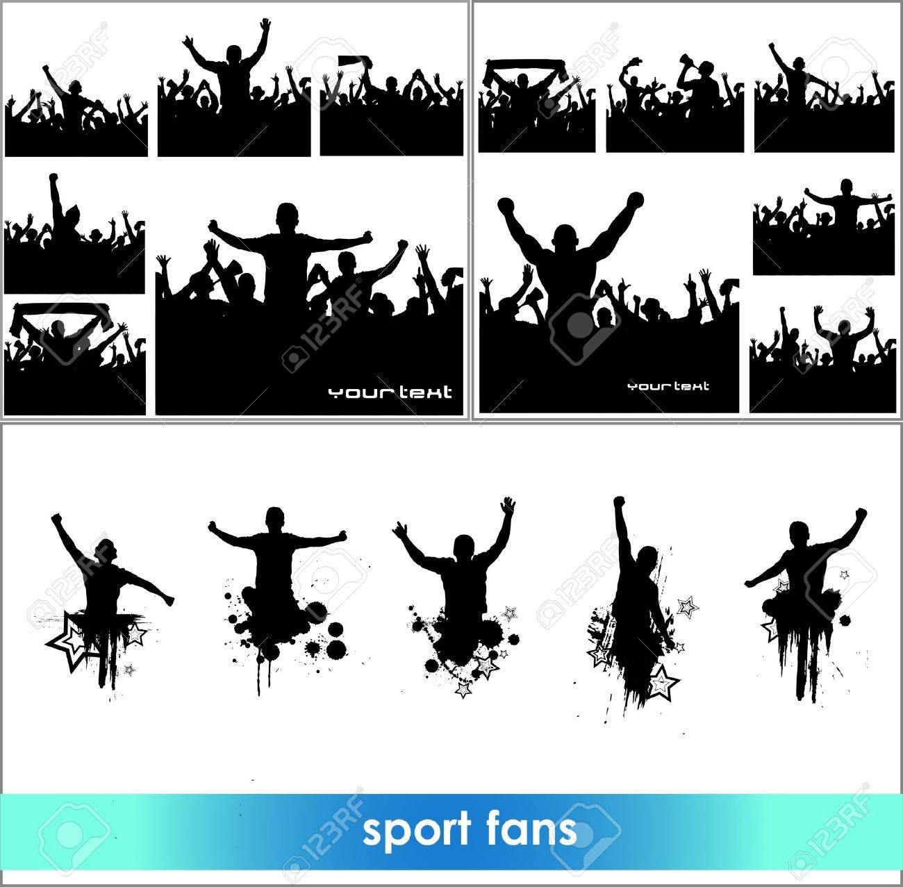 Advertising banners for sports championships and concerts Stock Vector - 18419621
