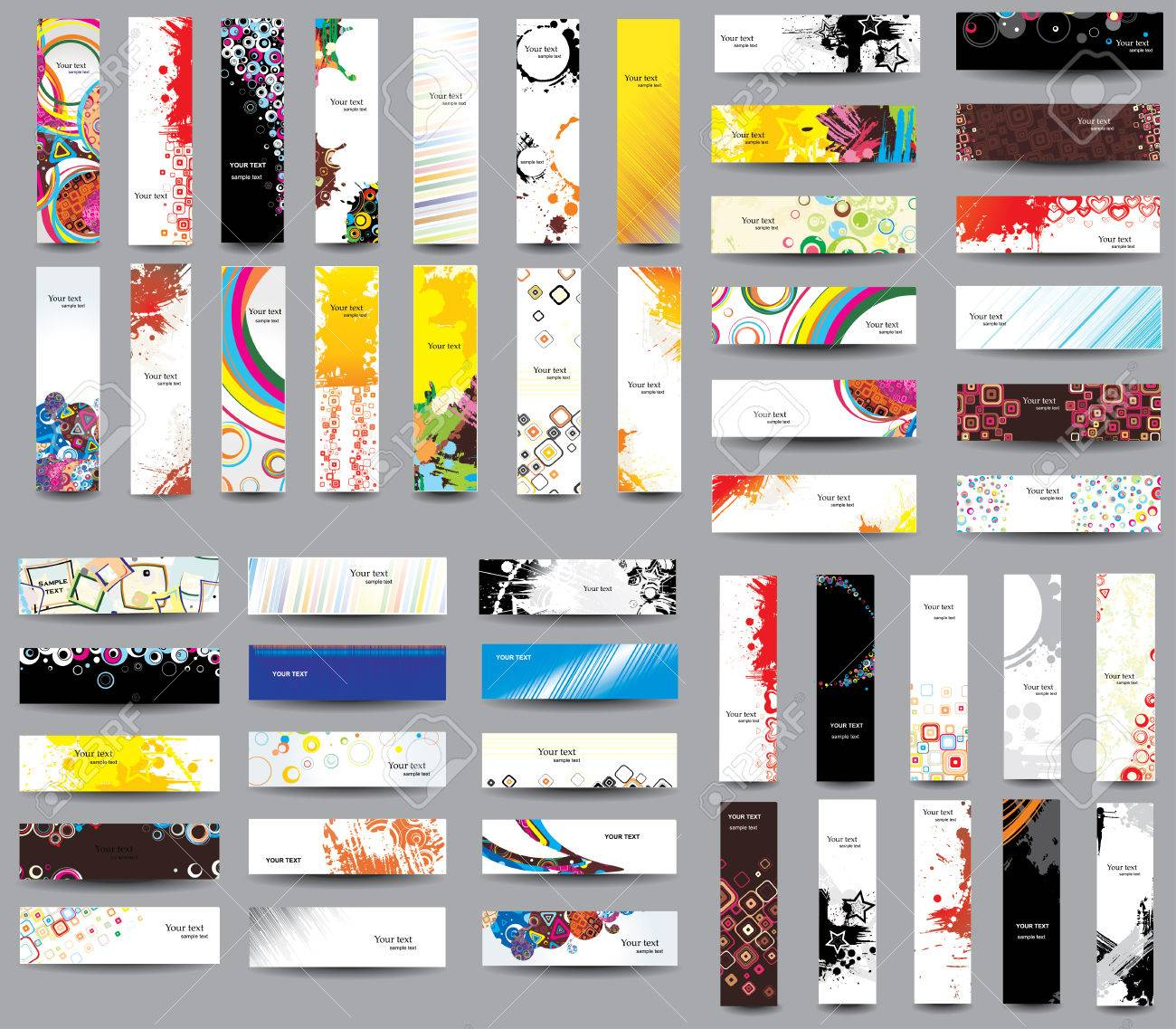 Mix Collection vertical and horizontal headers Stock Vector - 22419808