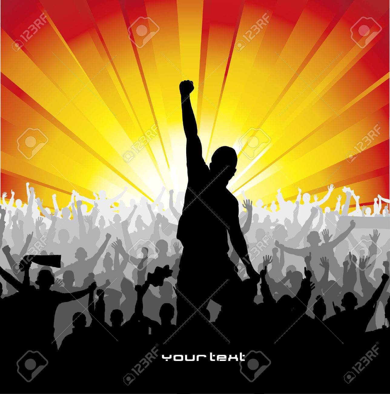 Poster for sports concerts and championships Stock Vector - 34231271