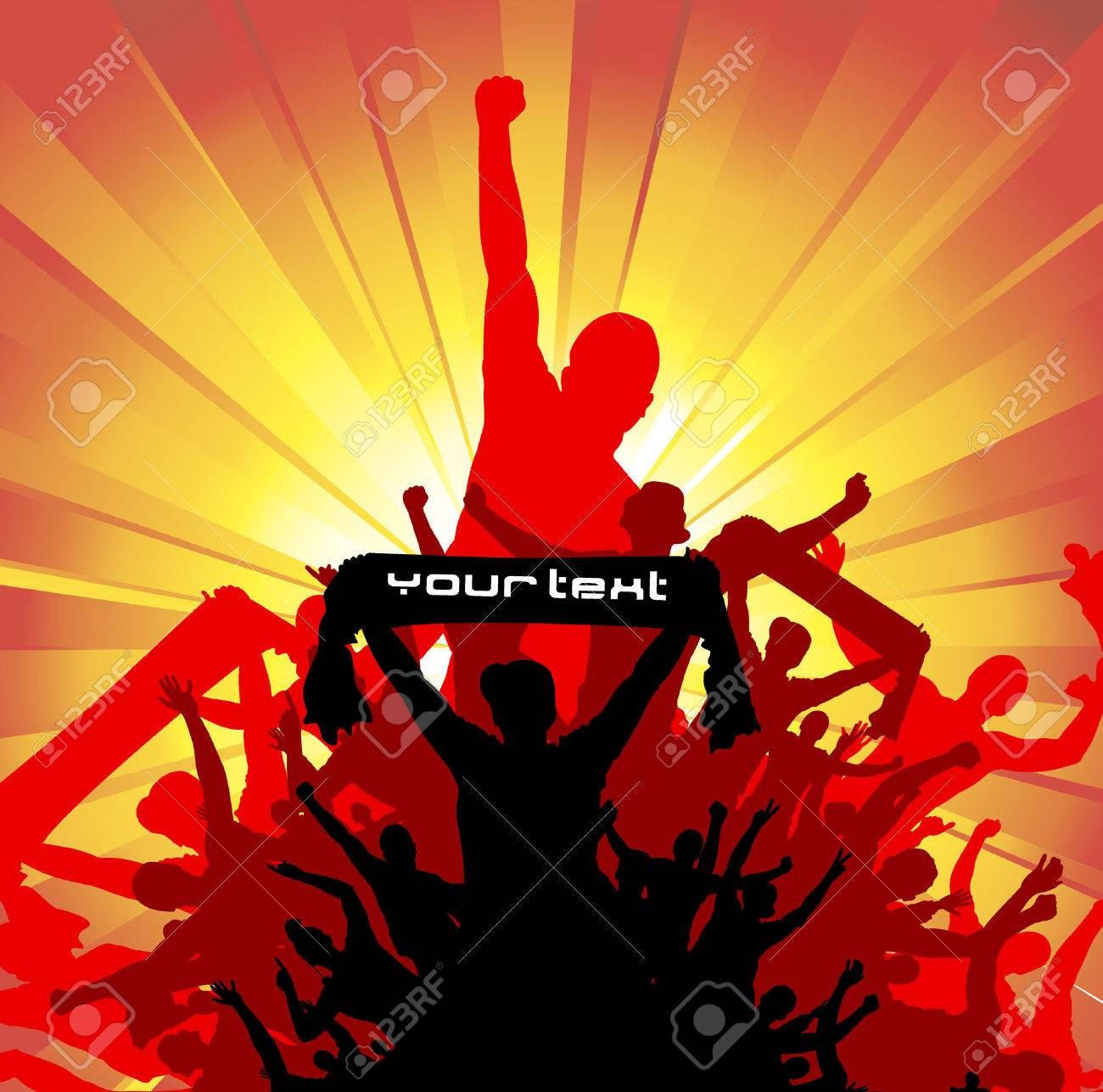 Banner for sporting event and concert Stock Vector - 38733385