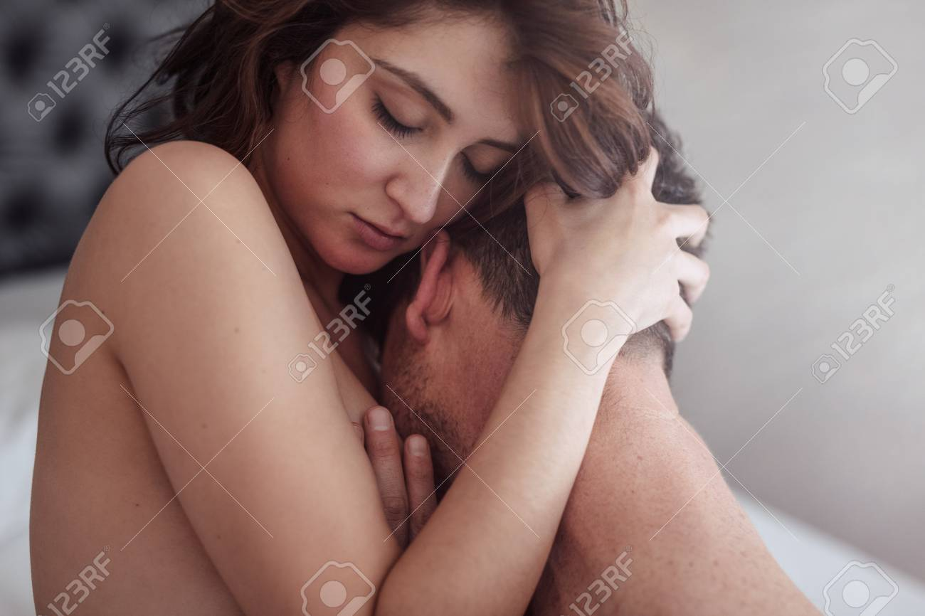 Passionate love making between man and woman