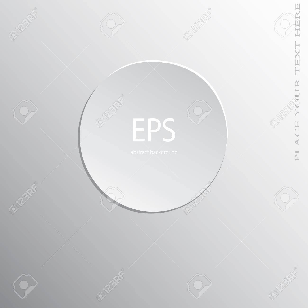 white paper circle sticker gradient background royalty free