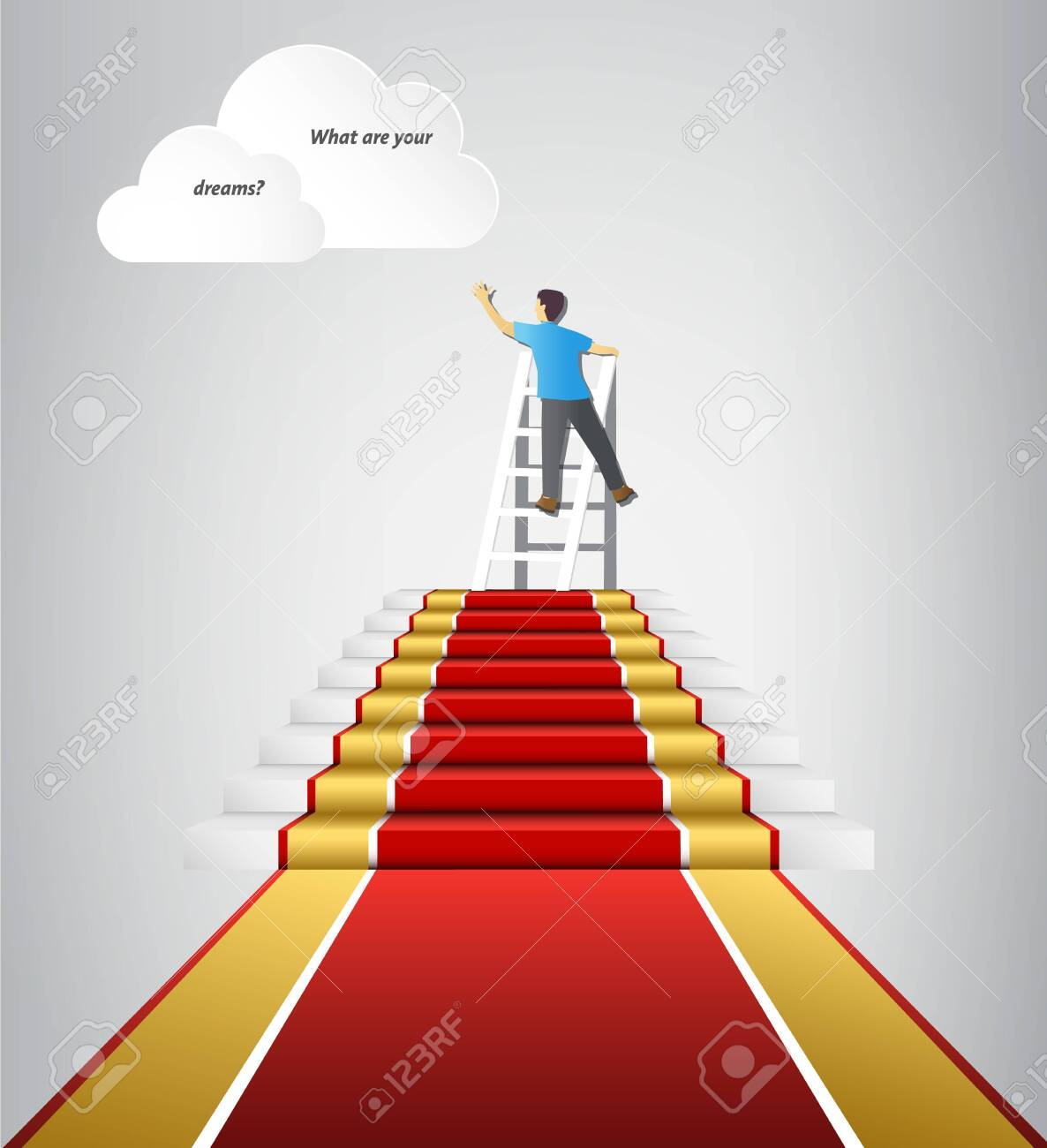 Follow your dreams, complete tasks go to your goal - 137364270