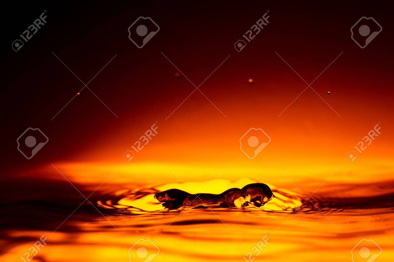 water splash at sunrise, high contrast image of a splash Stock Photo - 17813741