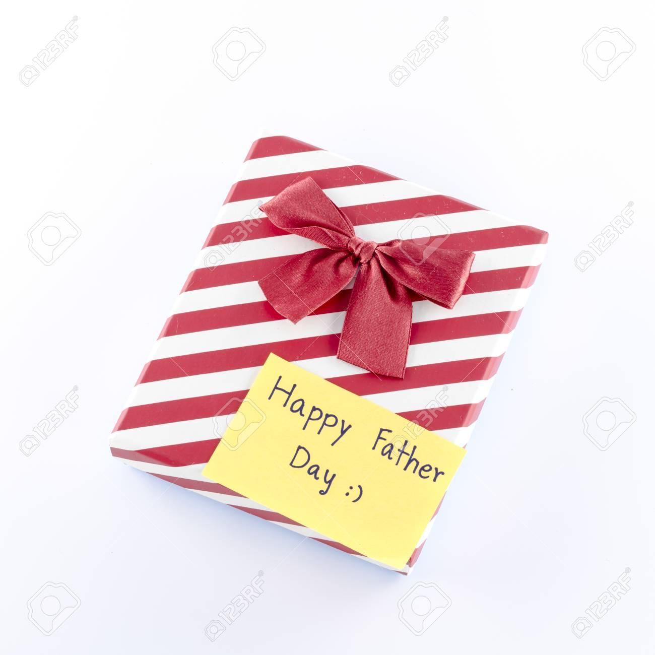 Geschenk-Box Mit Karte-Tag Zu Schreiben Glücklich Fathe Tag Wort Auf ...