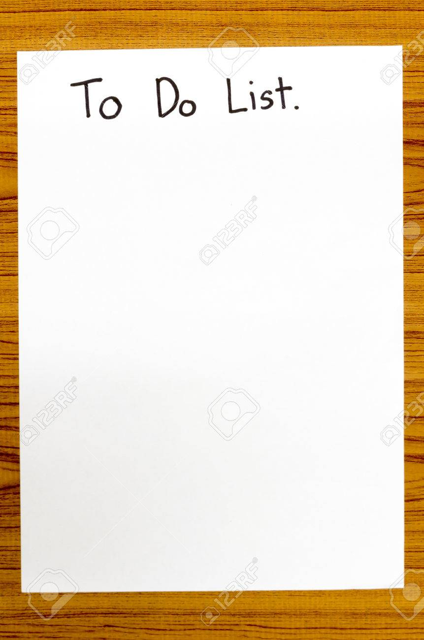paper write to do list word on wood background stock photo picture