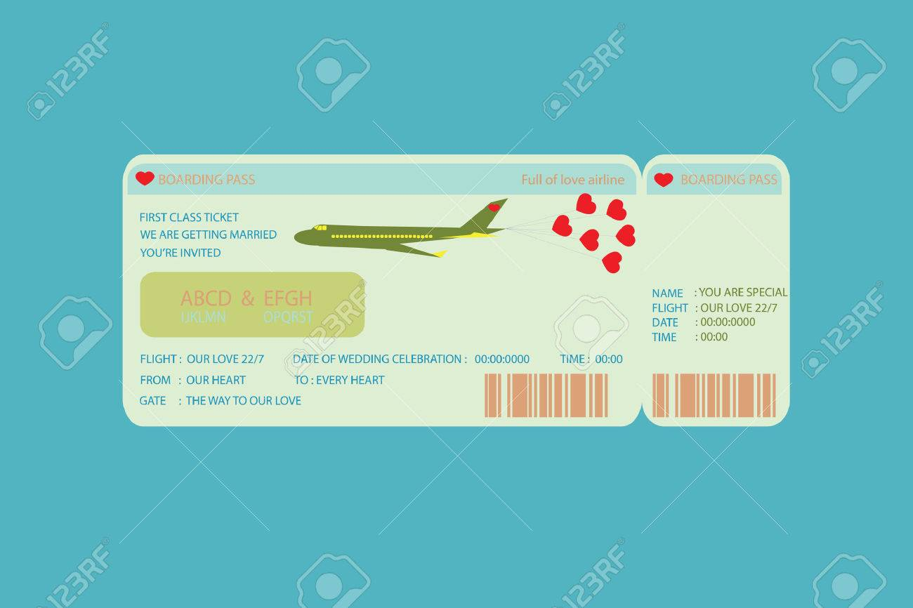 Boarding pass ticket concept wedding invitation template royalty boarding pass ticket concept wedding invitation template stock vector 44239774 stopboris Image collections