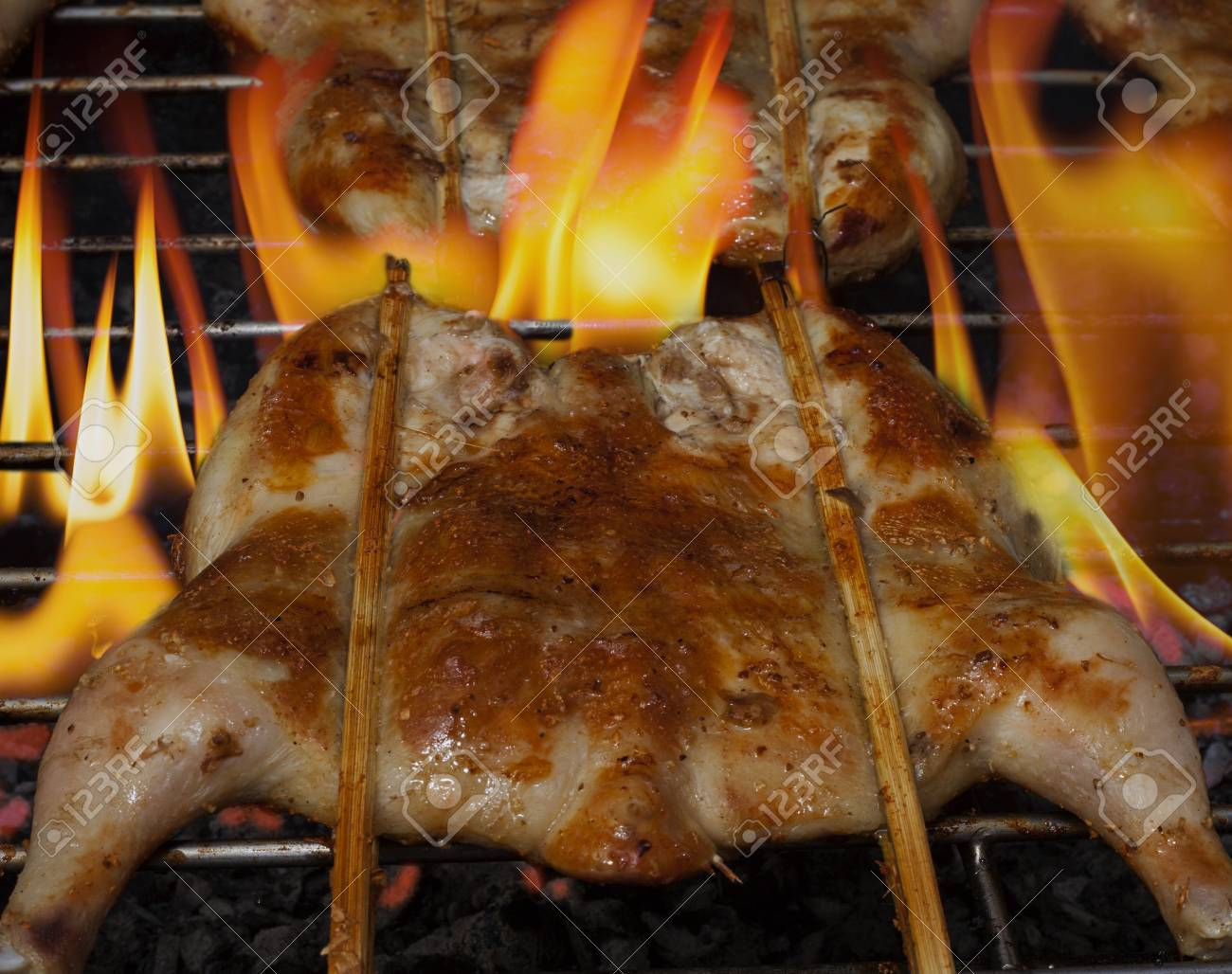 Grilled chicken  on the grill Stock Photo - 20163982