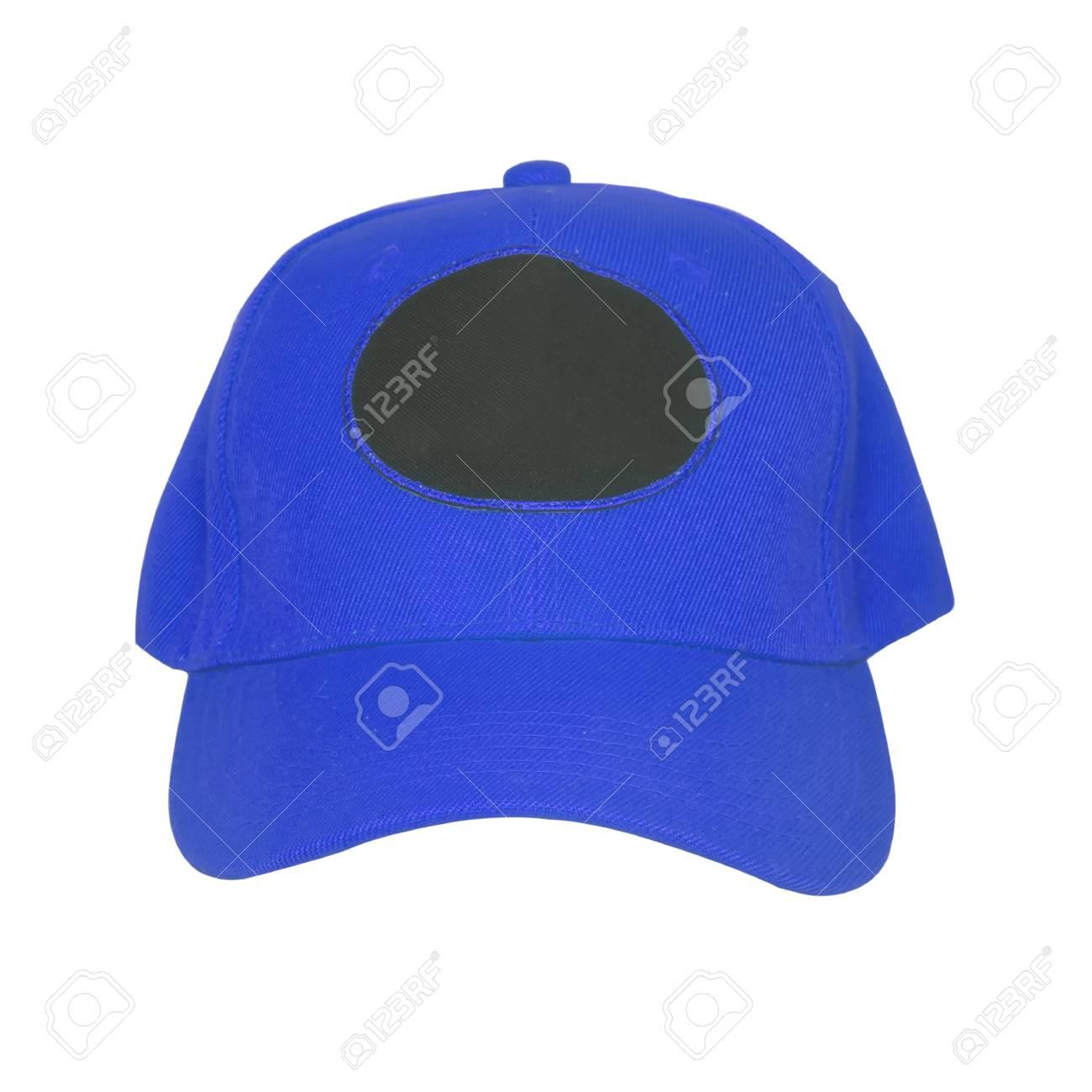 Foto de archivo - Gorra de béisbol azul aislada sobre fondo blanco 351096db0c4