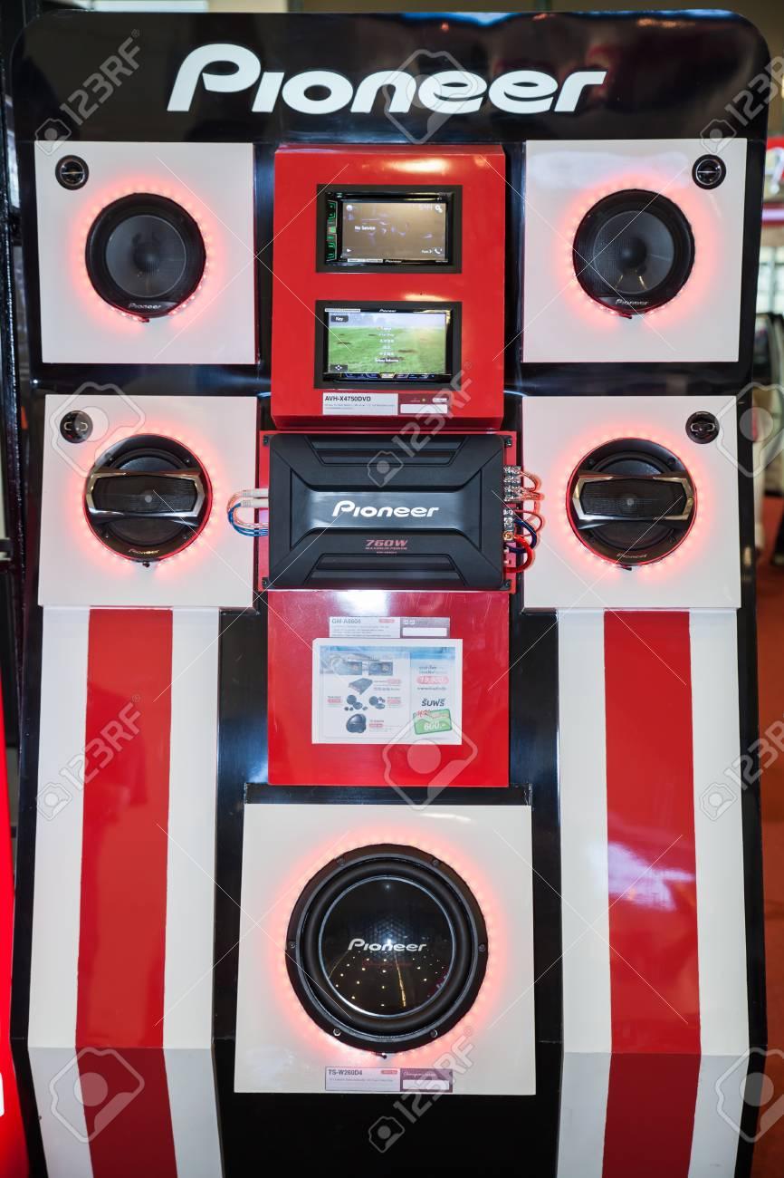 BANGKOK - AUGUST 1 :Pioneer sound test box at Big Motor Sale