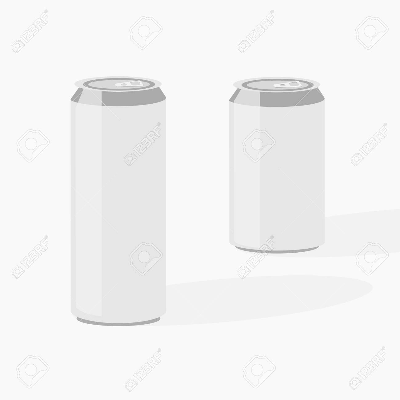 Beer can big size and small size ,illustration vector