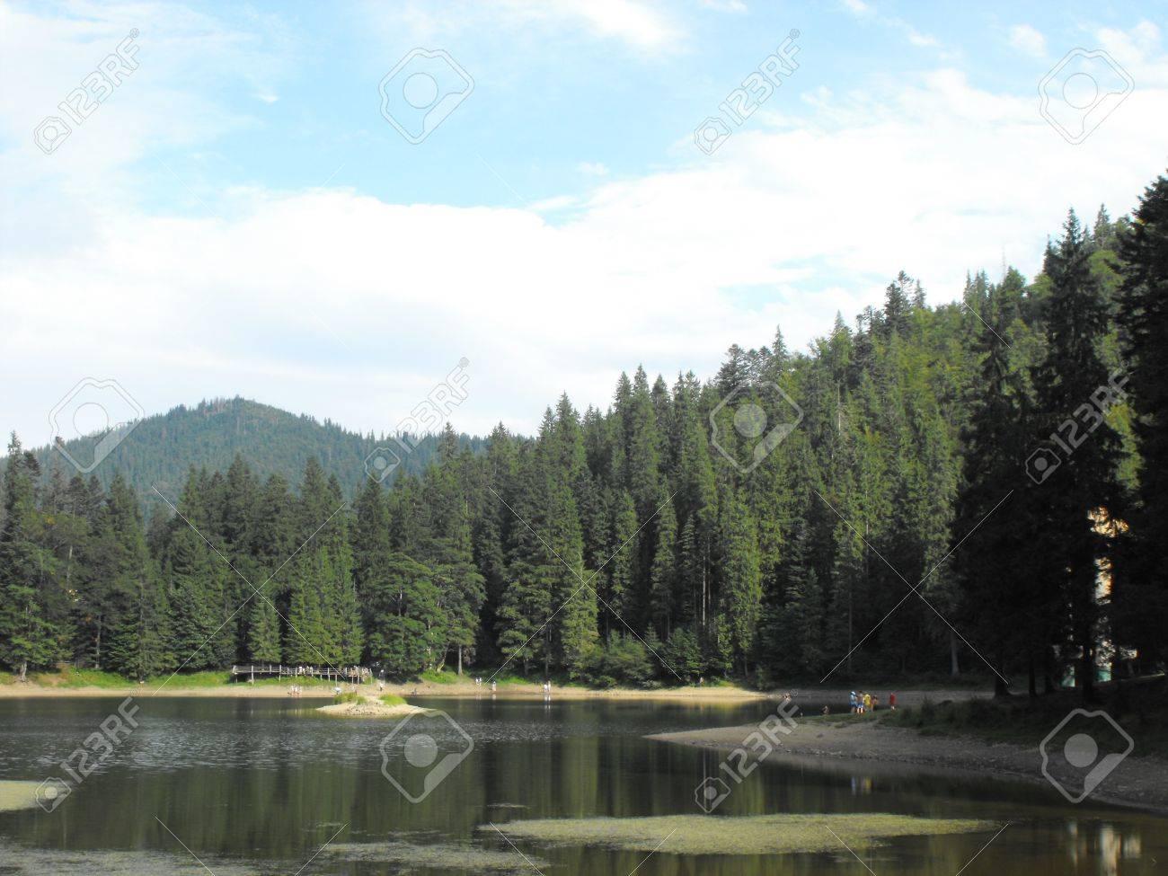 beautiful, legendary, popular lake Sinevir in the Carpathians Stock Photo - 17369429