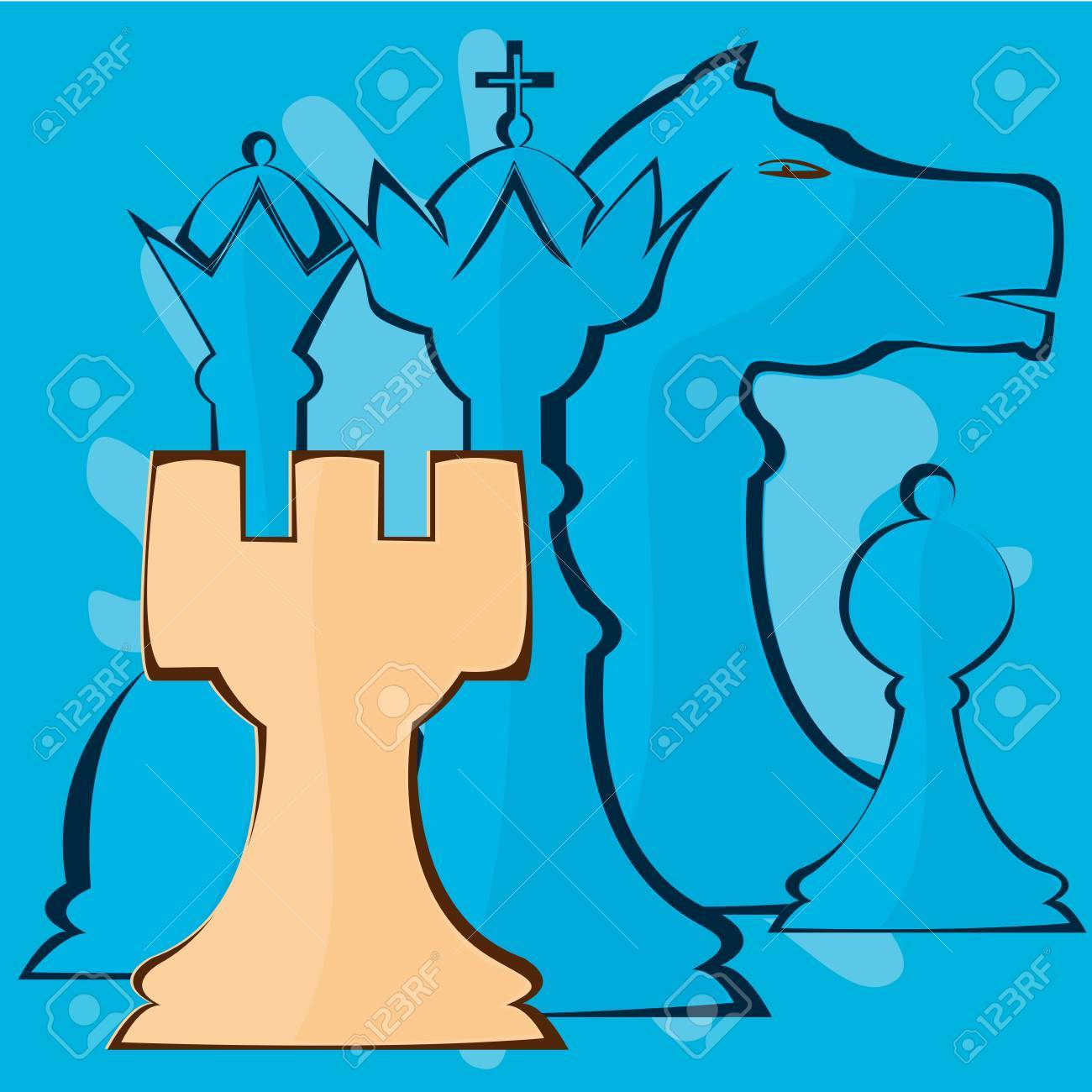 Illustration image of chess pieces Stock Vector - 12821635