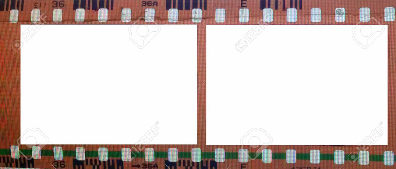 Vintage Background With Film Flame. Blank Old Grunge Film Strip ...