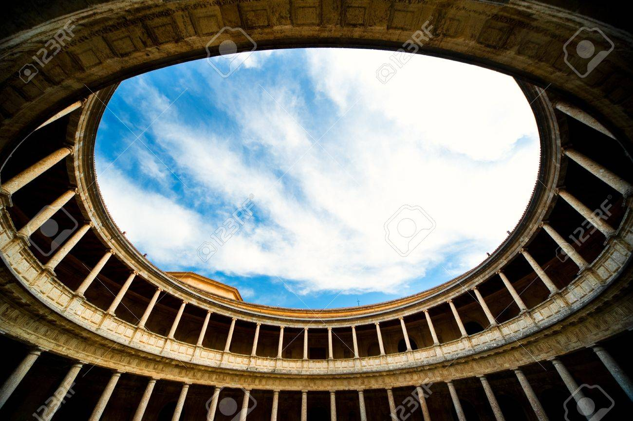 Inside of the Palace of Carlos V in Alhambra. Granada, Spain Stock Photo - 10950754