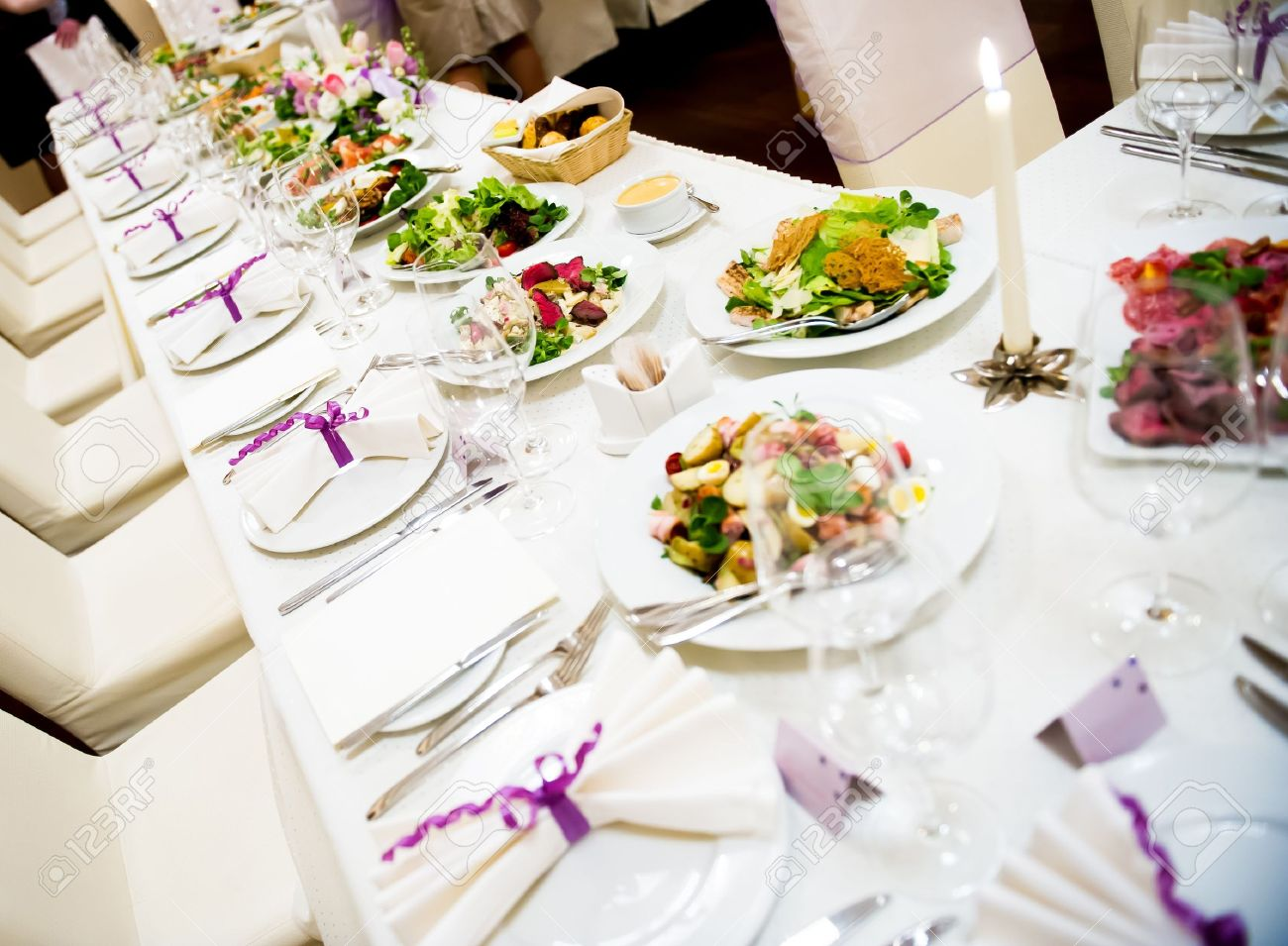Banquet Table Setting Part - 24: Indoor Wedding Reception Tables Images U0026 Stock Pictures. Royalty .