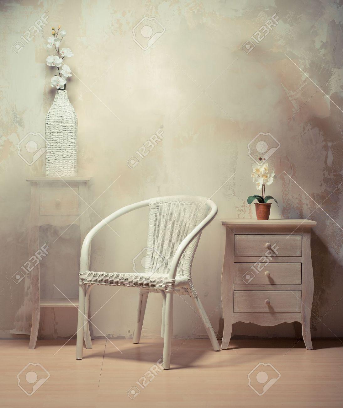 Design D\'intérieur De Chambre Avec Des Meubles De Couleur Beige ...