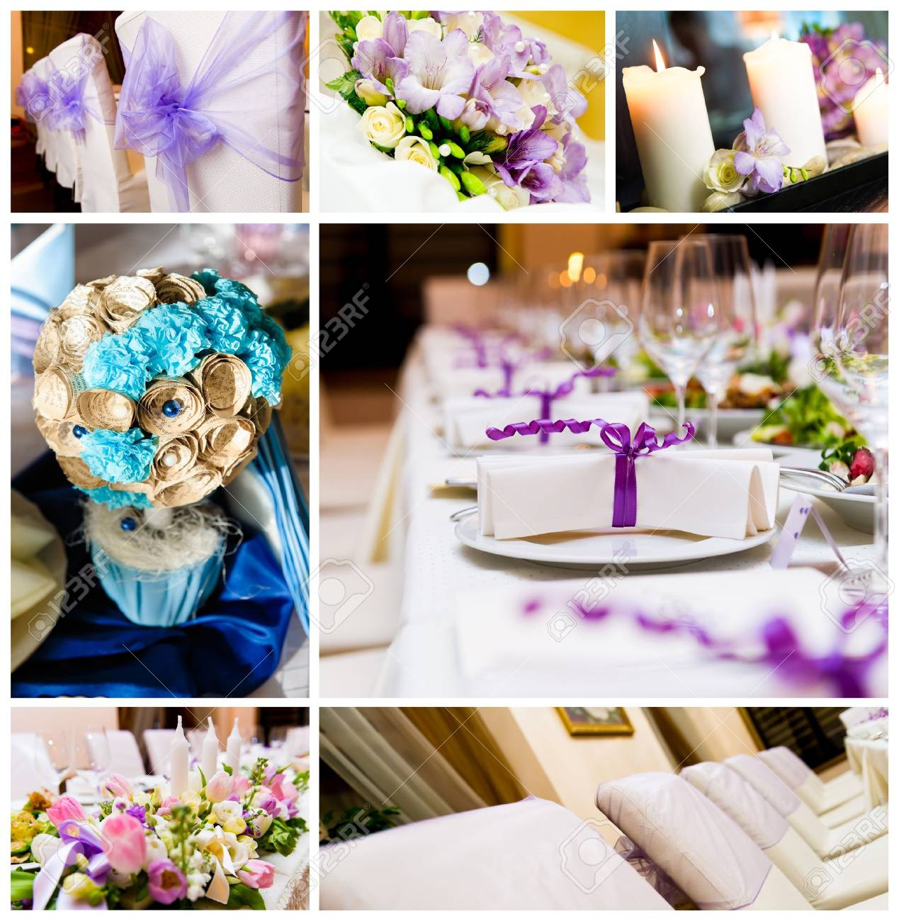 Wedding Decorations Collage Stock Photo Picture And Royalty Free